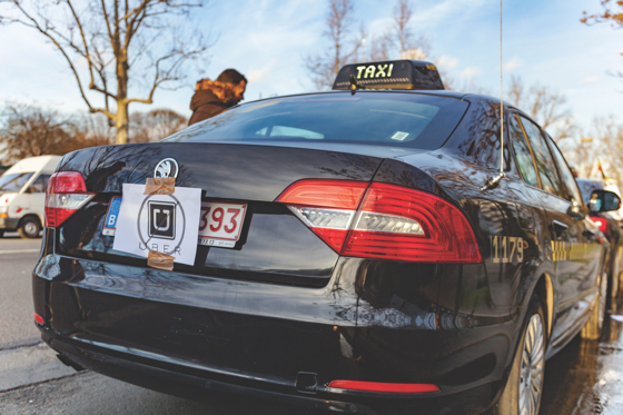 Parisian taxi drivers in January protested the increased competition they face from car services such as Uber.